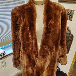 Vintage mouton dyed lamb coat